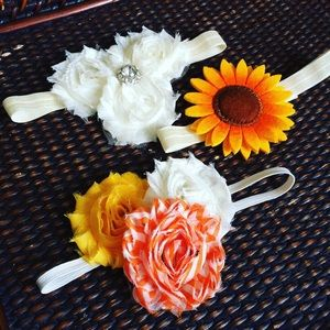 Other - Set of three shabby headbands